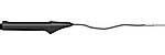 Гибкий точный погружной / проникающий зонд Pt100, кабель защищен до 300 °C